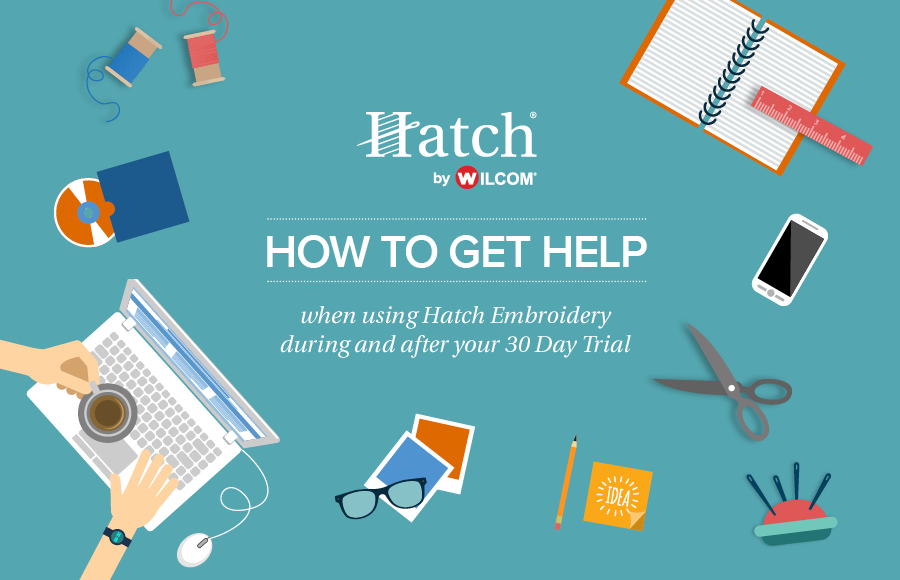 Getting Help When Using Hatch Embroidery Software