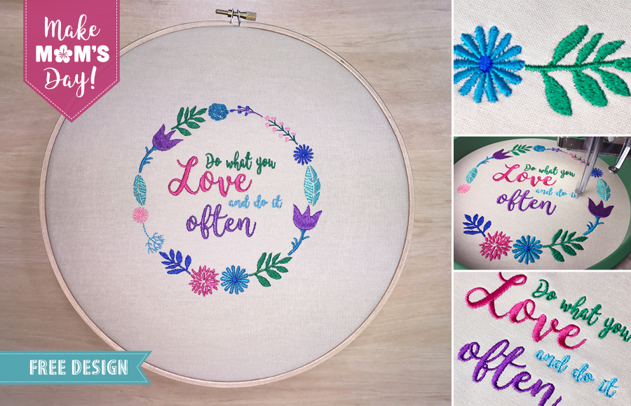 The Perfect Mothers Day Gift Free Embroidery Design