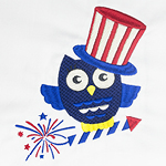 4th of July Patriotic Owl with Tutorial Videos & FREE Designs