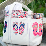 Summer Tote with 3D Flip-Flops Embroidery - Instructions & FREE Design