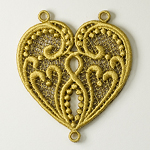 Dramatic Heart Necklace - Video Tutorial & FREE Design by Sonia Showalter