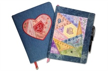 Journal Cover with ITH Crazy Patch Heart