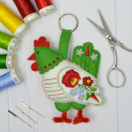 Hungarian Folk Hen - Construction Machine Embroidery