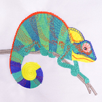 Digitizing Carlo the Chameleon - Downloadable FREE Design