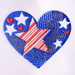 Celebrating 4th of July with Machine Embroidery