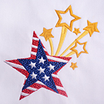 Digitizing the Patriotic Star Embroidery Design