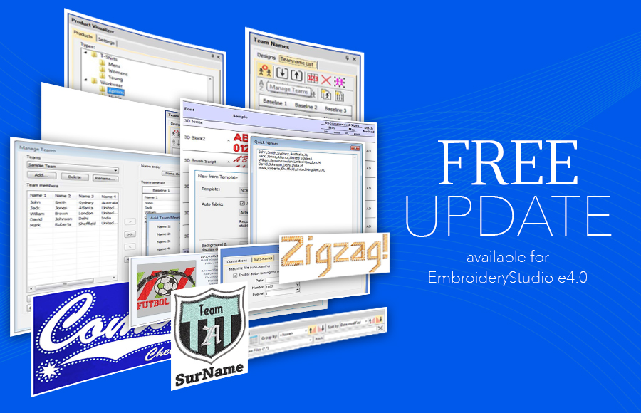 EmbroideryStudio e4 Update 1 0 has arrived and it's FREE!