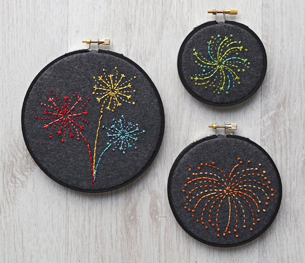fireworks embroidery in hoops