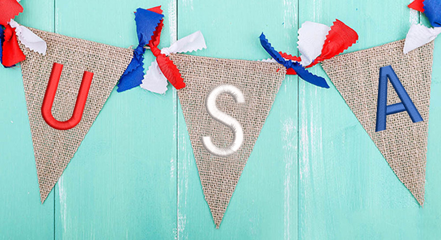 4th of July USA bunting