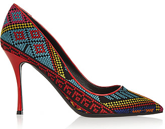 Net-a-porter embroidered shoes