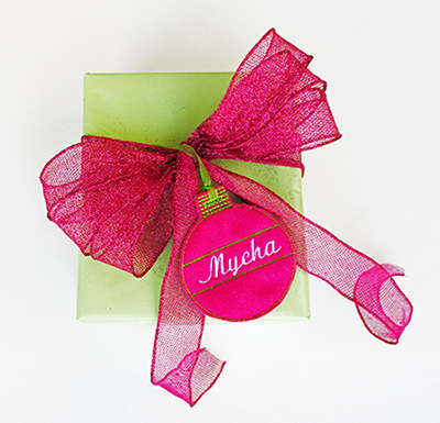 personalized Christmas present tag