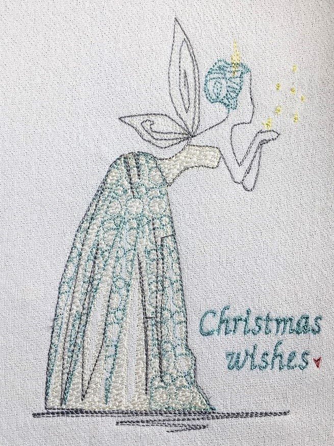 Christmas Fairy free machine embroidery design