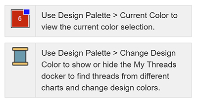 Design Palette icon in Hatch Embroidery software