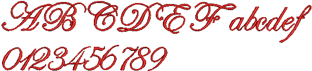 Hatch Embroidery Edwardian Script machine embroidery font