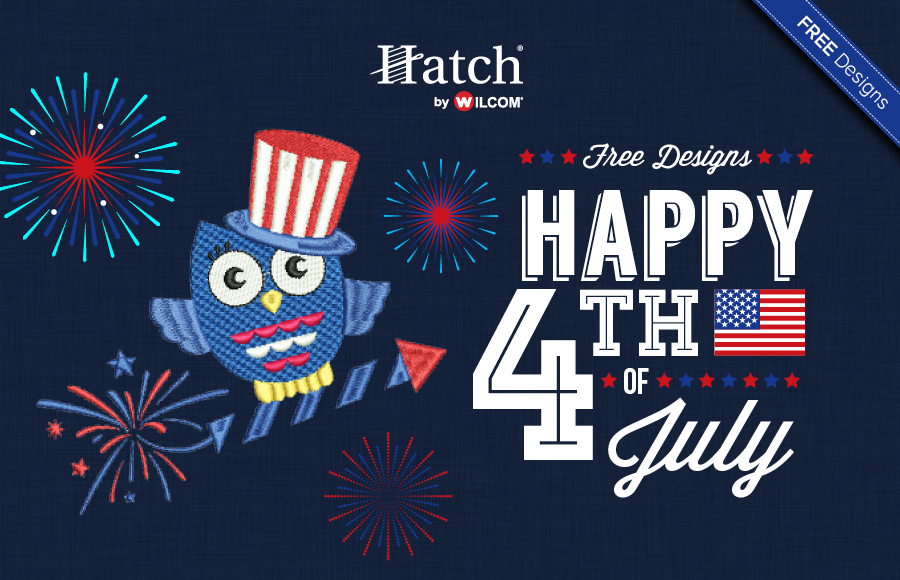 July 4th machine embroidery designs