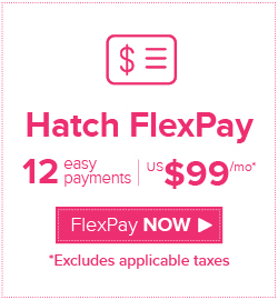 Hatch FlexPay US$99 x 12 months