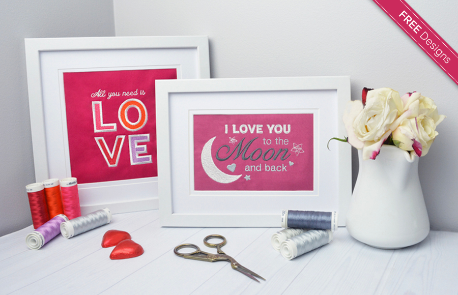 Valentine's Day sayings machine embroidery designs