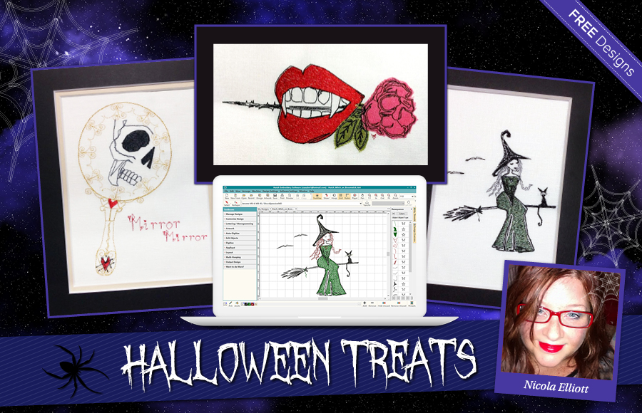 Halloween With Nicola Elliott Downloadable Free Designs