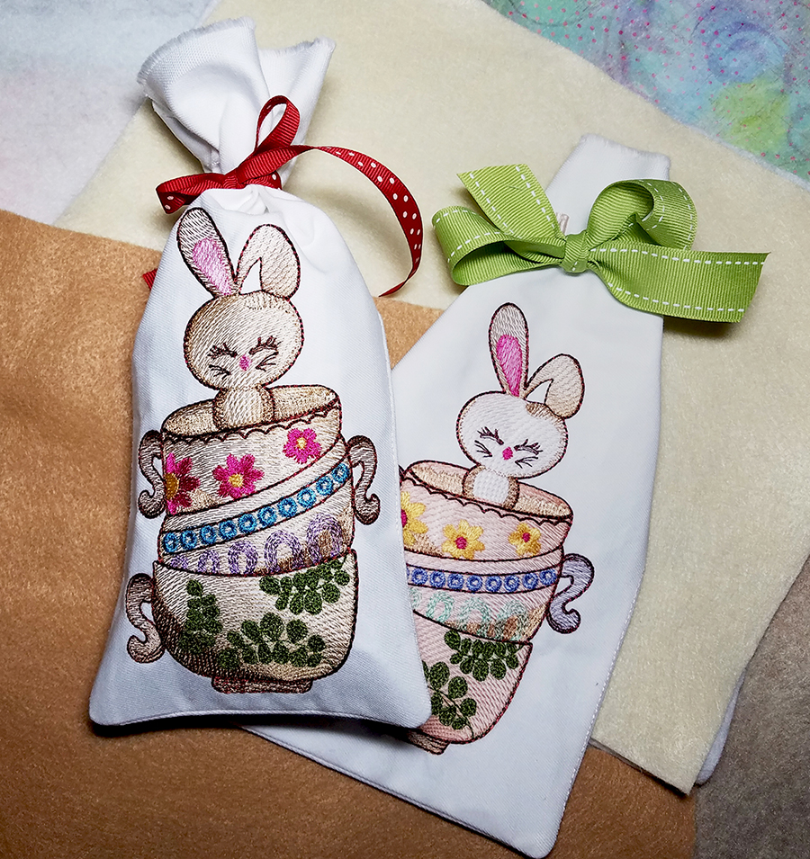 bunny machine embroidery design by Tattered Stitch Embroideries