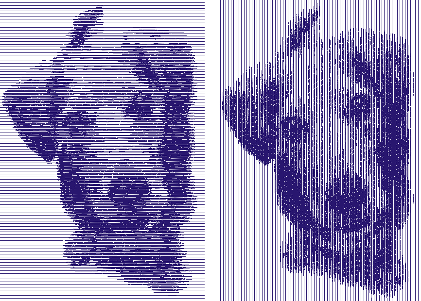 Color PhotoFlash image of dog created with Hatch Embroidery