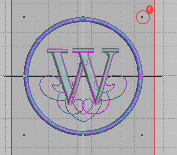 Creating simple monograms in hatch embroidery software
