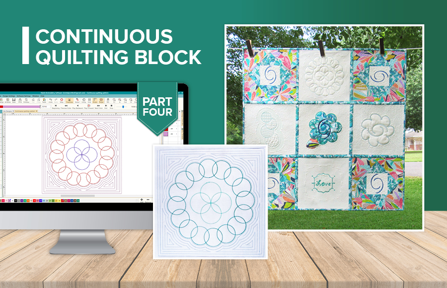 Hatching A Quilt Part 4 Continuous Quilting Block