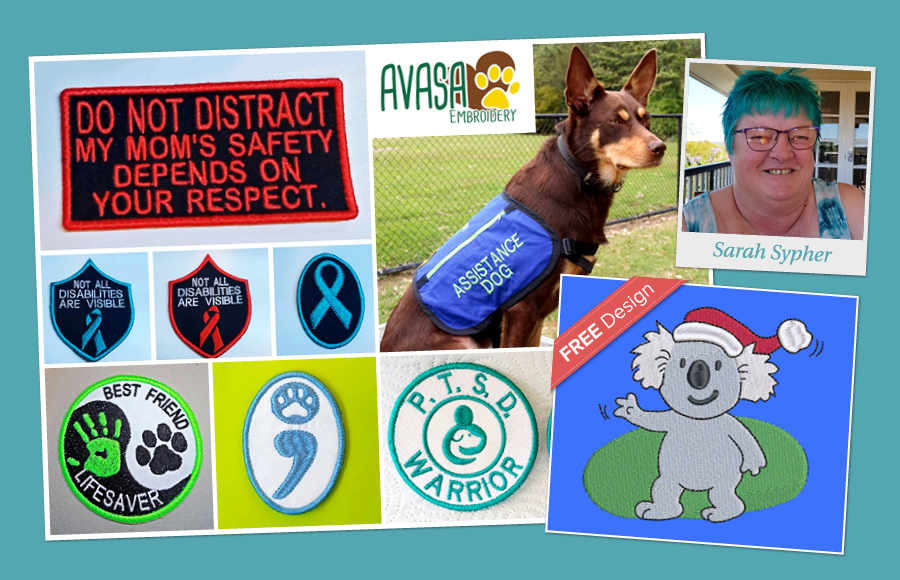 Assistance dog embroidered patches
