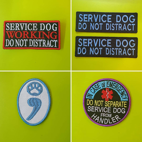 assistance service dog embroidered patches