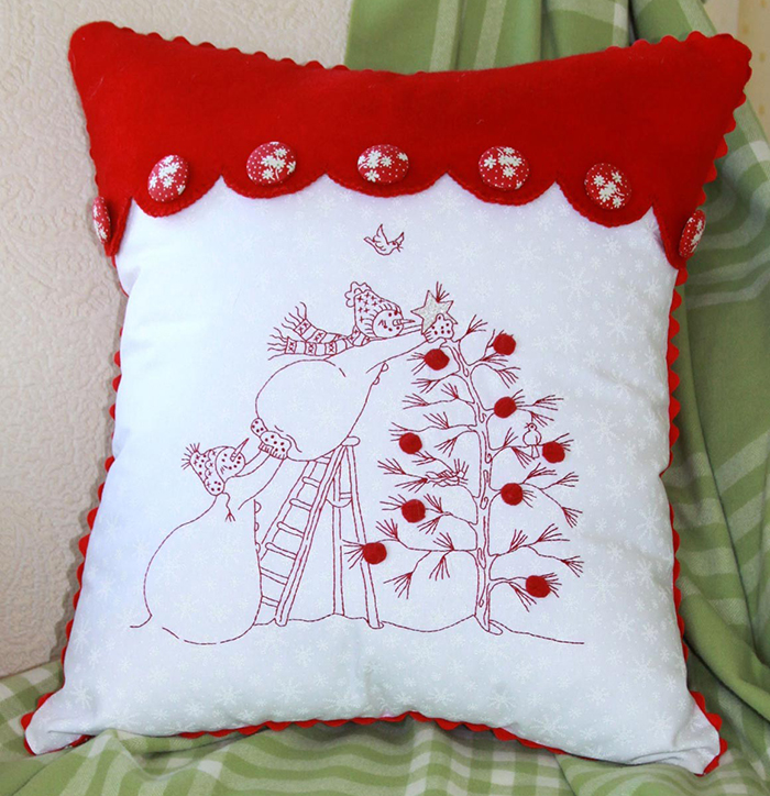 snowmen cushion