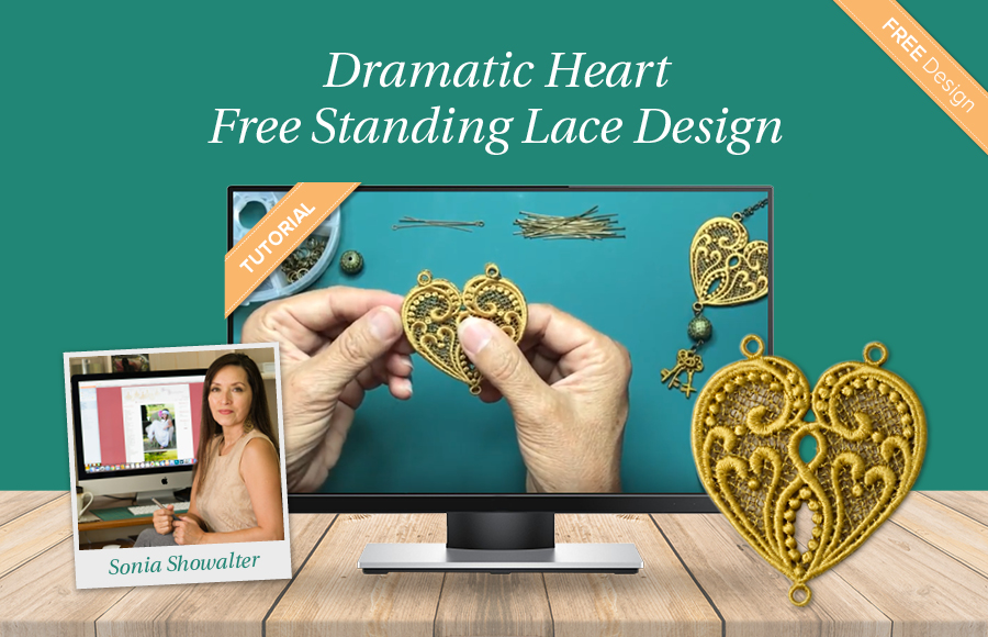 Dramatic Heart Necklace Video Tutorial Free Design By Sonia