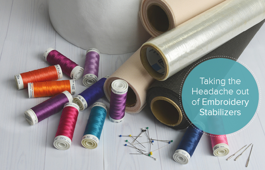 machine embroidery stabilizers, threads and needles
