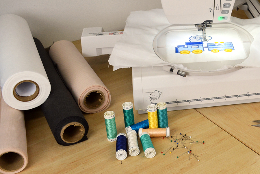 machine embroidery cut-away stabilizer