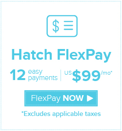 Hatch FlexPay US$99 x 12
