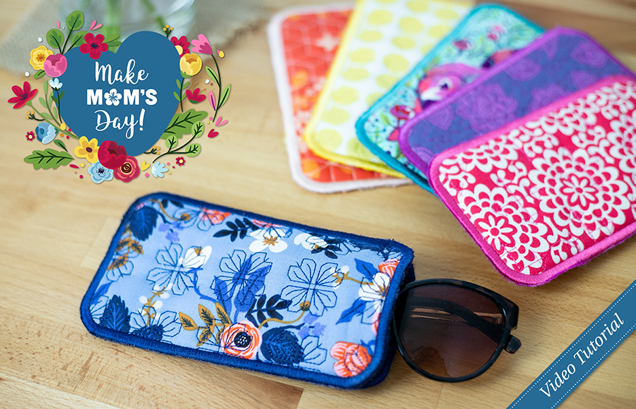 Free ITH Sunglasses Case project by Caroline Critchfield