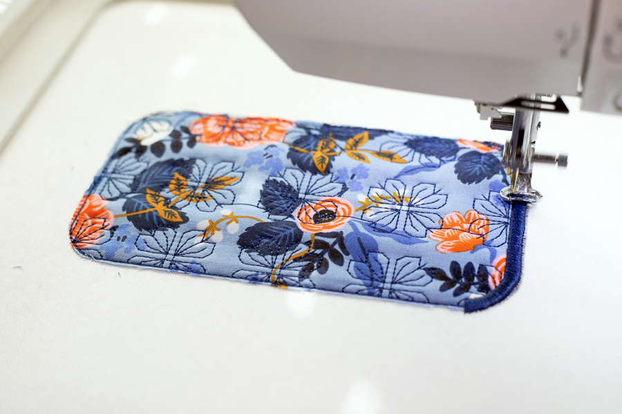 ITH Sunglasses case on embroidery machine
