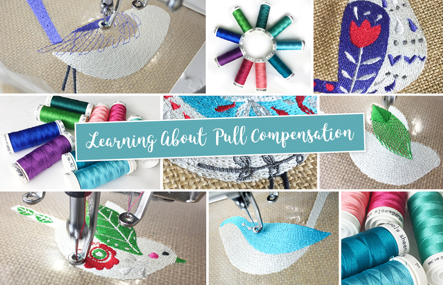 pull-compensation in embroidery